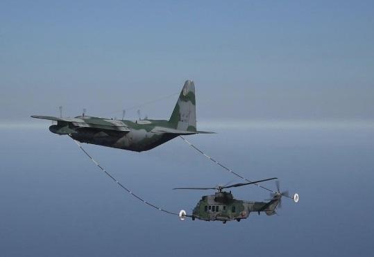 Força Aérea Brasileira realiza campanha de Reabastecimento em Voo de helicópteros H-36 Caracal