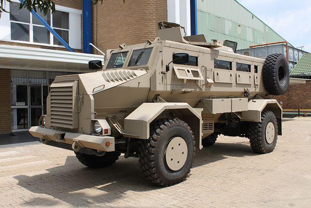 Qatar doa veículos blindados Casspir para a Somália