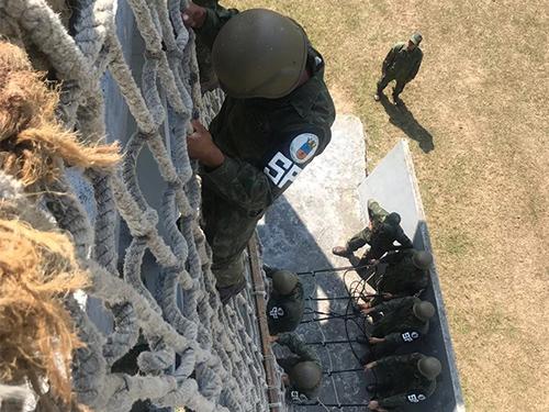 ADSUMUS: Companhia de Polícia (CiaPol) participa de adestramento de Atendimento Pré-Hospitalar Tático, na Unidade Médica Expedicionária da Marinha (UMEM)