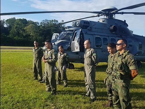ADSUMUS: 2° Batalhão de Operações Ribeirinhas (2ºBtlOpRib) realiza adestramento com  aeronave do  do 2º Esquadrão de Helicópteros de Emprego Geral