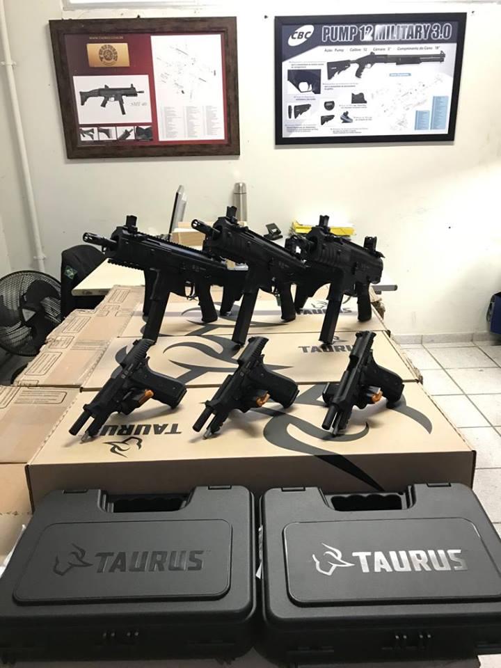 Secretaria de Estado da Justiça do Espírito Santo recebe novas armas