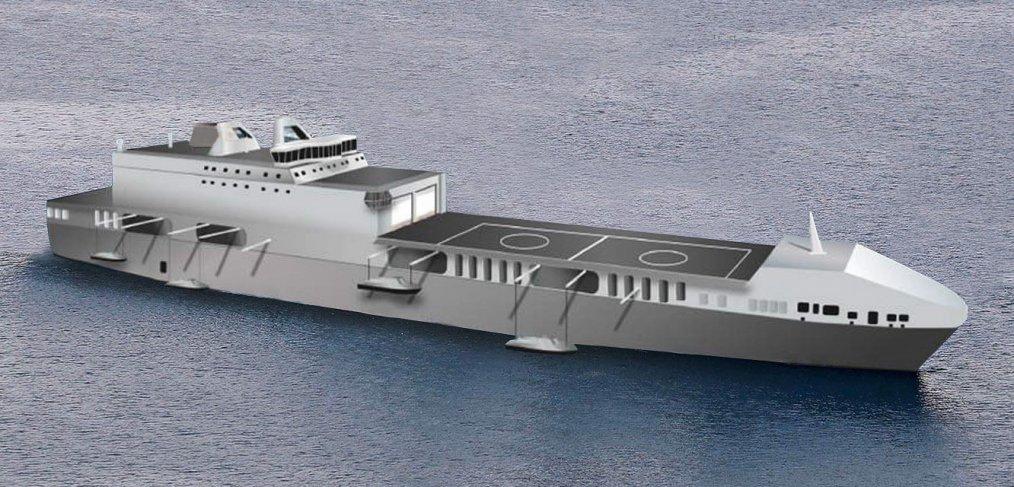 Royal Navy desenvolve novo navio de ataque ao litoral e apoio as forças especiais