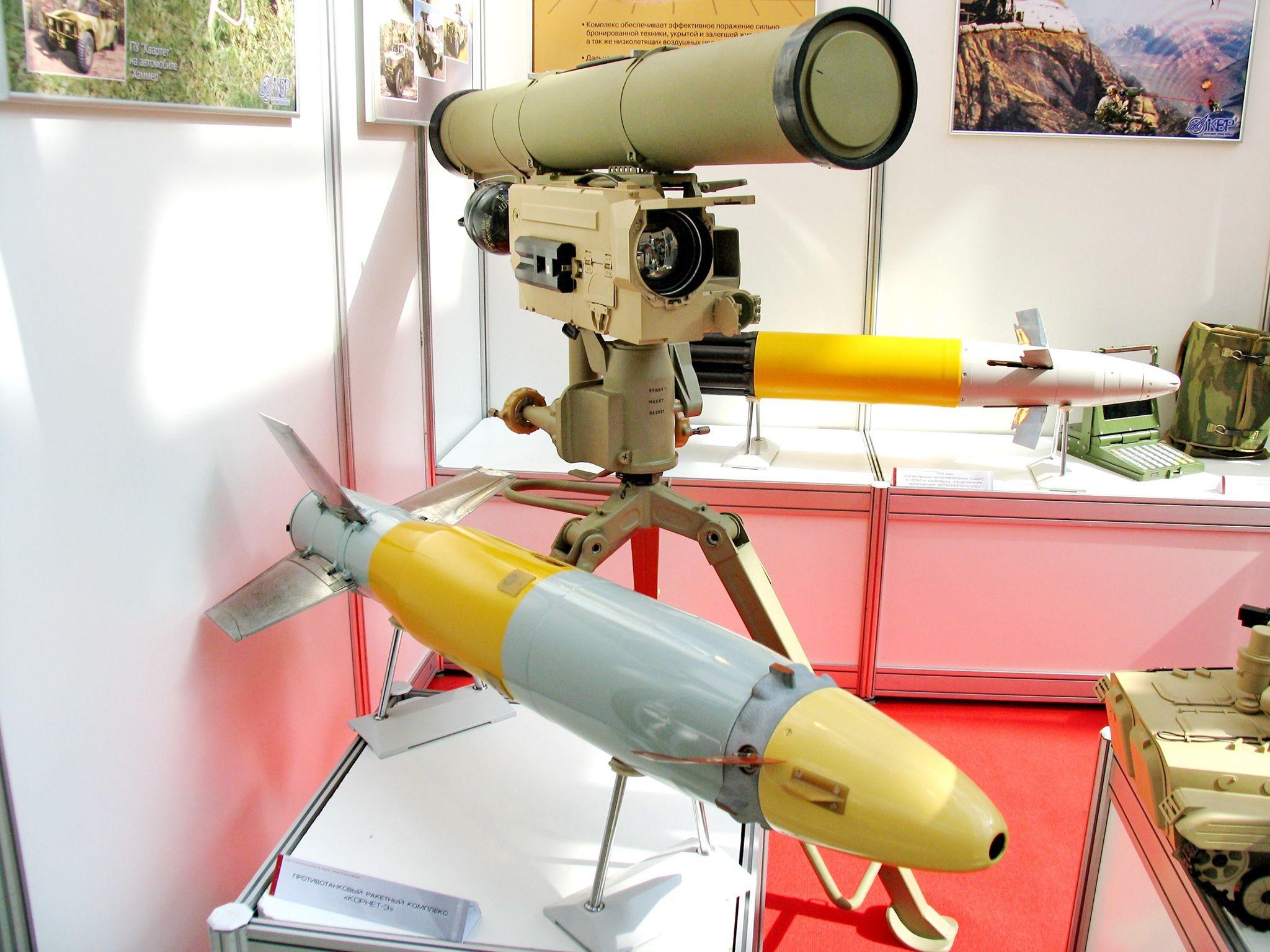 Emirados adquirem sistemas de mísseis anti-carro  russos Kornet-E