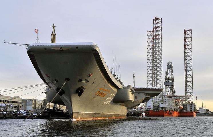 O porta-aviões almirante Kuznetsov será ancorado para mais reparos em 2020