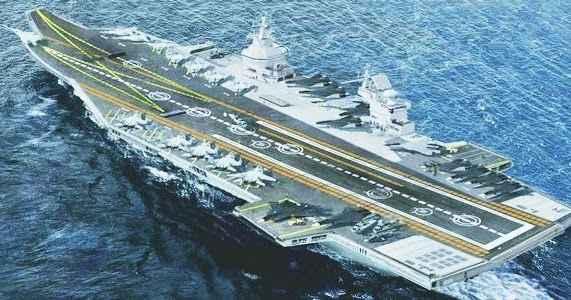 O desenvolvimento do primeiro porta-aviões nuclear russo será iniciado em 2023