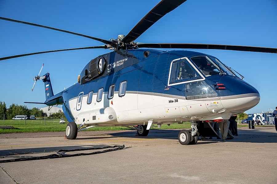 Primeiro helicóptero Mi-38 de série é apresentado na MAKS-2019