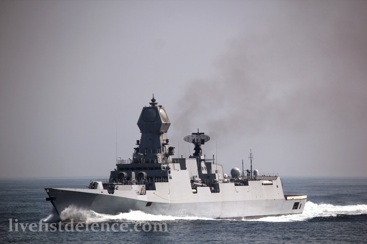 Live Fist, imagens exclusivas do novo Destroyer Indiano INS Kolkota