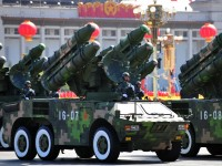(FILES) In a file picture taken on October 1, 2009 a China's military shows off their latest missiles during the National Day in Beijing. China's defence budget will rise 12.7 percent in 2011 to 601.1 billion yuan (91.7 billion USD), a government spokesman said on March 4, amid persistent concerns about Beijing's military build-up. AFP PHOTO / FREDERIC J. BROWN (Photo credit should read FREDERIC J. BROWN/AFP/Getty Images)