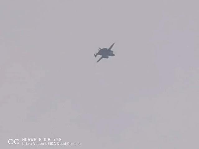 Imagem divulgada pelo twitter é relatada como sendo a do primeiro voo do awacs chinês KJ600